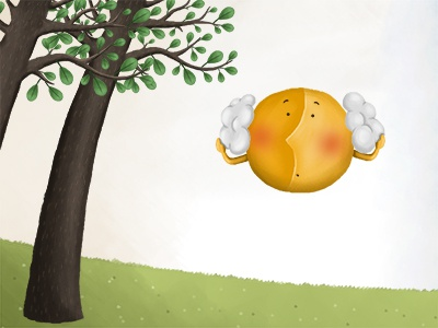 Scene detail  childrens book sun funny illustration nature