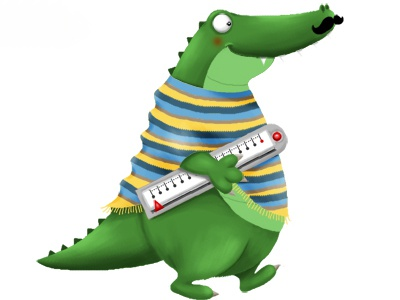 Crocodile character animal funny character crocodile mexican digital illustration children book storybook