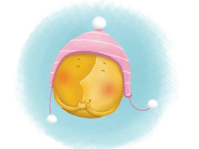 Polar sun childrens book digital illustration snorybear funny smiling sun picture book
