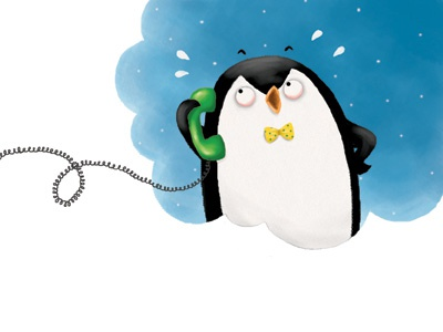 """""""I can't sleep from your snoring!"""" picture book penguin funny animals snorybear digital illustration childrens book"""
