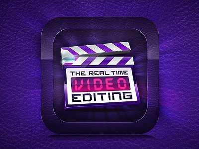 The Real time Video Editing -  icon iapp icon apple video editing editing icon cutter shakeeb ak
