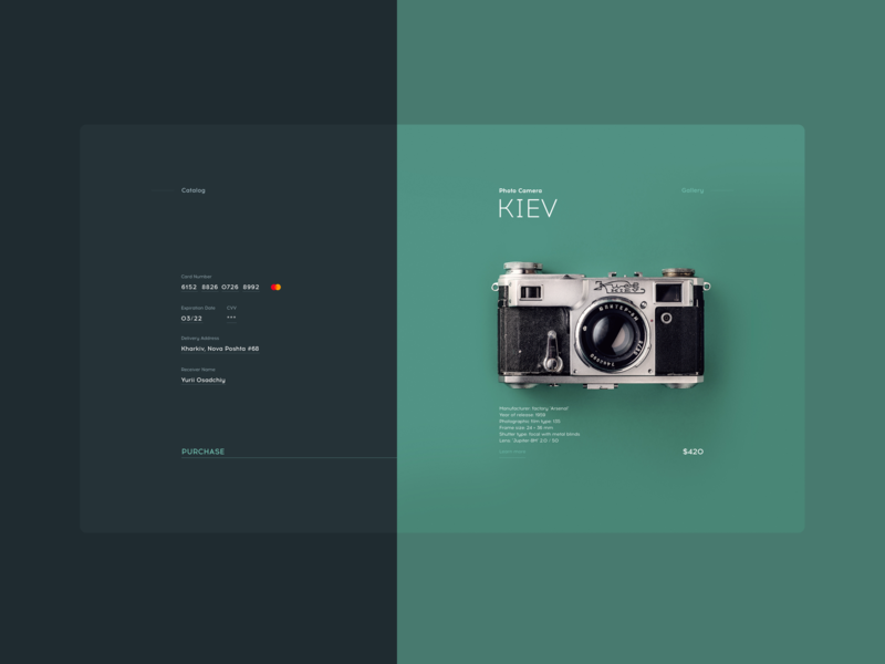 Checkout / Item Card colors e-commerce interface flat typography web ui
