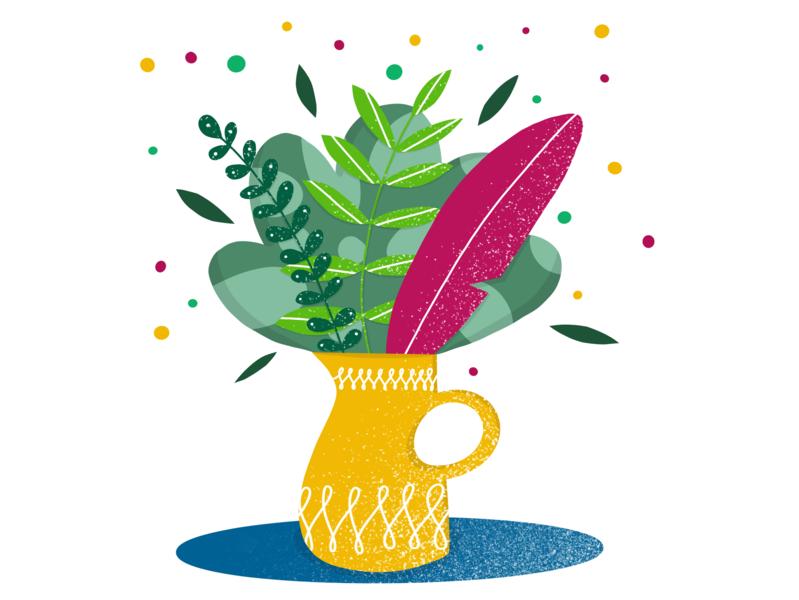Vase plant flower flowers design ilustracja procreate illustration drawing