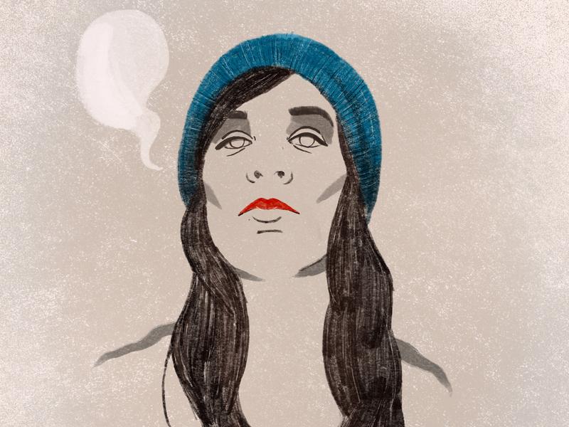 Winter portrait ipadpro drawing procreate ilustracja pencil cold girl portrait winter