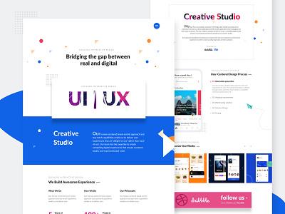 UI | UX Design Studio services follow portfolio dribbble hamburger creative website homepage landingpage dribble uisketch uiux ui studio design
