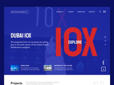 Dubai Projects Website - Landing page