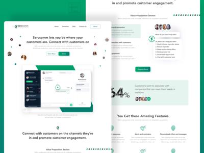 Servcomm Website  - Landing Page