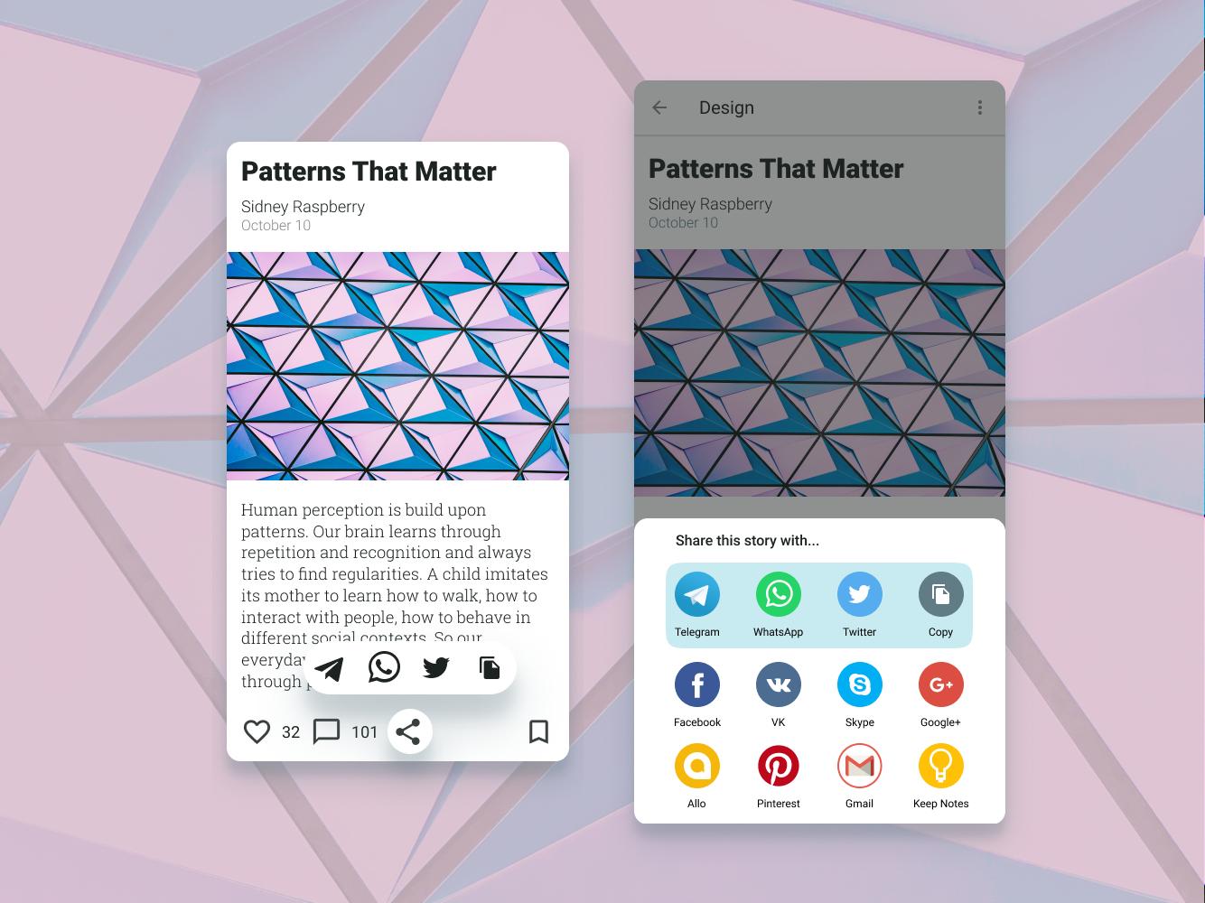 DailyUI 010 - Social Share share button share social share design mobile app design dailyui