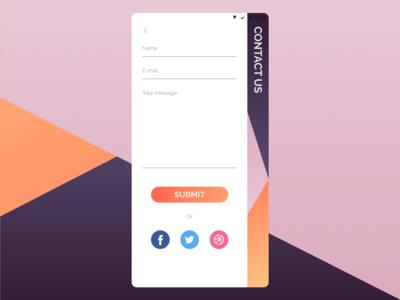 DailyUI 028 - Contact Us dribbble invites dribbble invite contact us design mobile app design dailyui