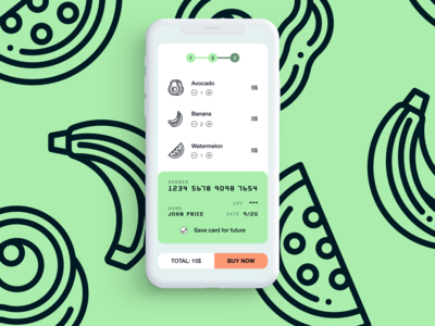 DailyUI 002 - Credit Card Checkout credit card form credit card checkout design mobile app design dailyui