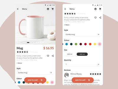 DailyUI 033 - Customize Product customize product design mobile app design dailyui