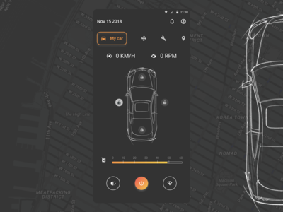 DailyUI 034 - Car Interface car interface design mobile app design dailyui