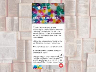 DailyUI 035 - Blog Post reading blog post design mobile app design dailyui