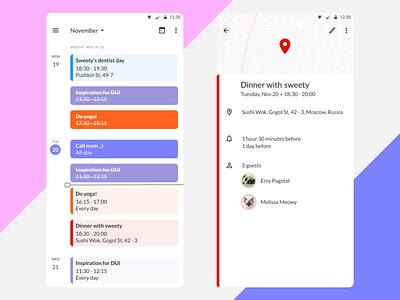 DailyUI 038 - Calendar calendar design calendar design mobile app design dailyui