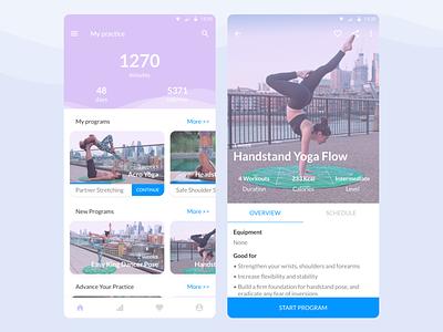DailyUI 041 - Workout Tracker yoga app yoga workout tracker design mobile app design dailyui