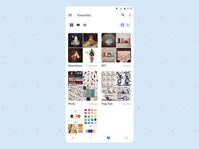 DailyUI 044 - Favourites favorites favourites design mobile app design dailyui
