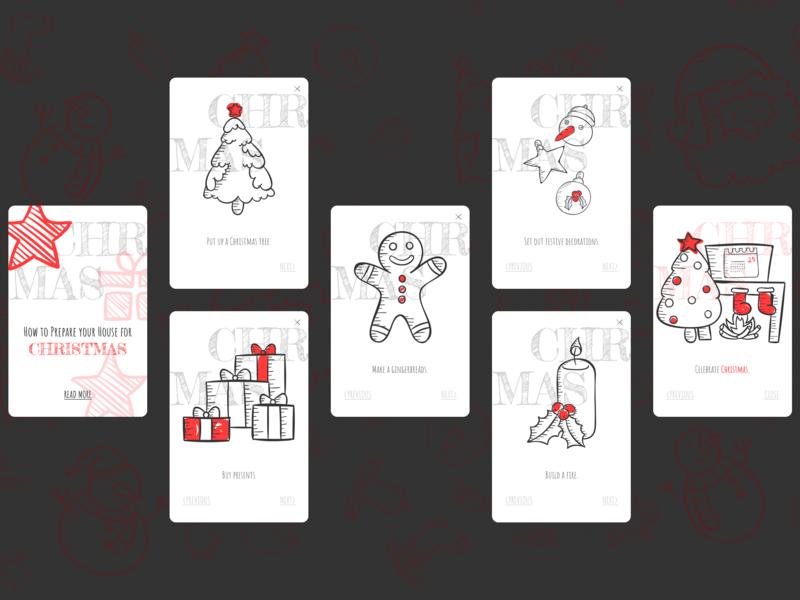 DailyUI 045 - Info Card christmas info card infocard design mobile app design dailyui