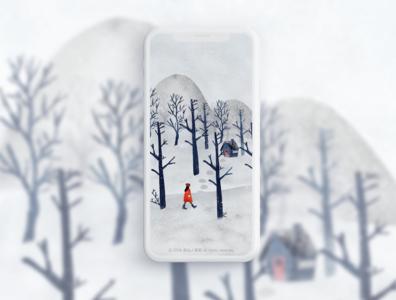 四季插画系列-冬