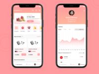 Marketplace & Profile screens categories profile home screen ui appdesign uidesign