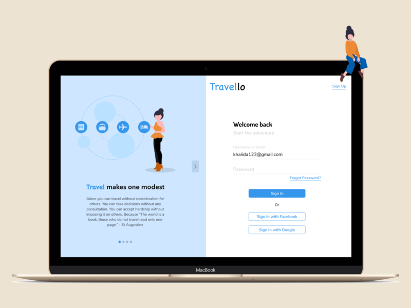 Sign In Page _ Travel Management System daily ui ui ux design ui design landing page design landing design landingpage inspiration logo welcome page banner travelling illustration travel app sign in page sign up page sign up sign in