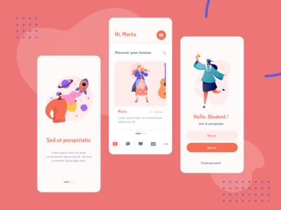 School App mobile app design minimal design ui ui design