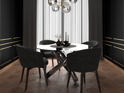 dinning room black  white vector residential black dark illustration branding textures interior design