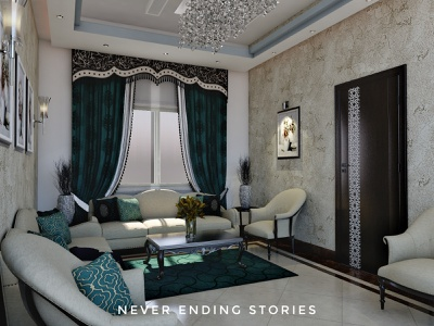 drawing room residential buildings black dark illustration branding textures interior design