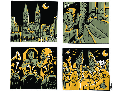 Bremen Cathedral midnight night bremen concert brass christmas sequence comic