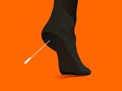 Achilles arrow heel dead death classic greek iliada iliad achilles