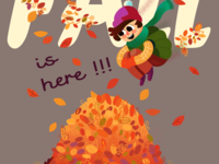 "Postcard: ""Fall is here!!!"""