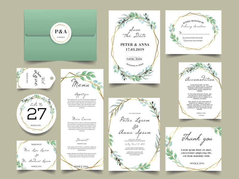 modern geometric with watercolor greenery wedding invitations invite hand drawn arrangement vintage modern invitation vector elegant frame greeting decoration background card invitation flower wedding design illustration watercolor floral weddinginvitations
