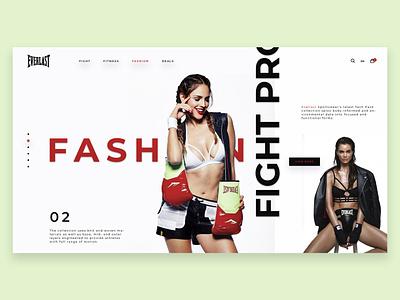 Everlast Fashion Store model photo photgraphy npdigital girls interace shop concept ui design web store fashion everlast