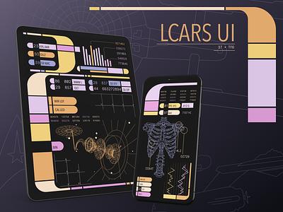 LCARS UI - Star Trek TNG figma app design vector ui app design visual design illustration futuristic ui sci fi mobile ui tng star trek