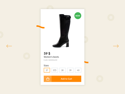 Card Product card website web ux ui store shop view product interaction fashion ecommerce