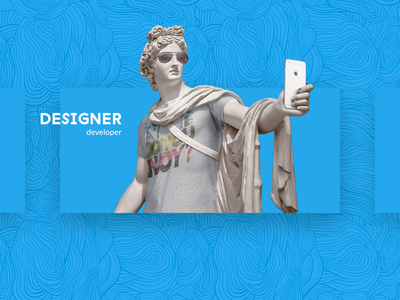 Art on the Web #1 statue creative minimal card design ui web art
