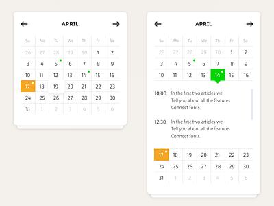 Calendar year widget ux ui sketch photoshop month interface flat date calendar