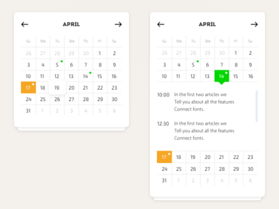 Calendar year widget ux ui sketch photoshop month interface flat date calendar