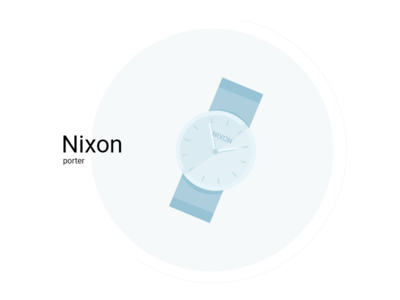 Nixon porter flat nixon illustration watch ux ui time details clock arrow ai