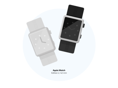 Apple Watch black edition watch time apple illustration flat details clock arrow ai