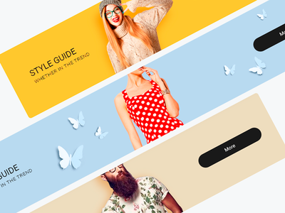 Banners  for online store ux ui shop mobile minimal material goods flat design card banner