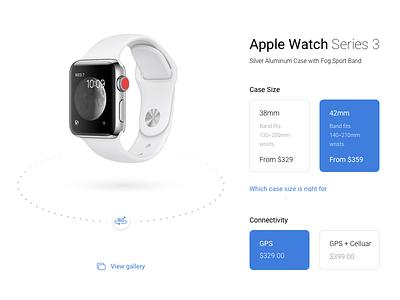 Apple Watch - 360 watch card design apple ux ui flat 360 product
