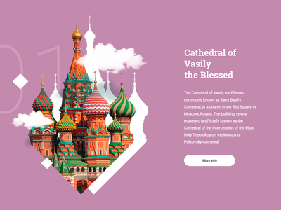 Saint Basil's Cathedral ux ui typography minimal flat design designer cathedral