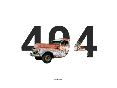 404 Error flat minimal car sketch photosjop ux ui page error 404