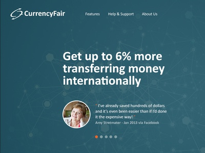 Test landing page for CurrencyFair currencyfair homepage landingpage fullscreen