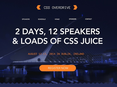 Css Overdrive Sample Conference css avenir conference