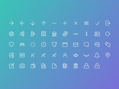 Icon Set icons line icon set application iconography flat symbols