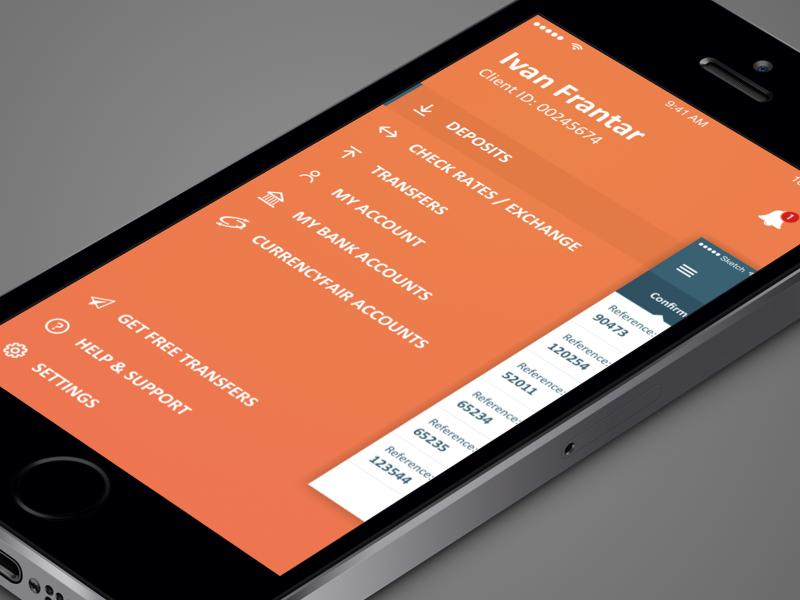 Sidebar Navigation iphone5 ios menu mobile navigation sidebar