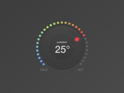 Temperature knob