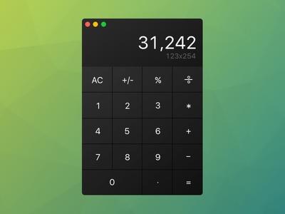 Simple calculator UI simple ui calculator