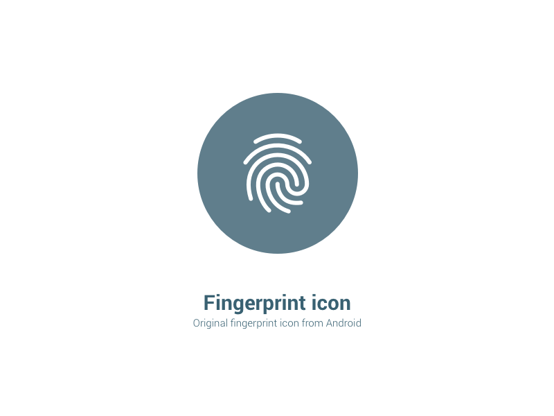 Android Fingerprint Icon marshmallow touch id print finger icon fingerprint android